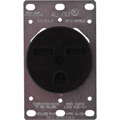 RECEPTACLE INDUST 2P 30A BLK