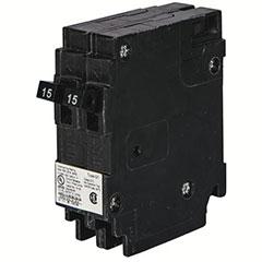 CIRCUIT BREAKR 2-15A 1P 120V