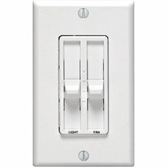 DIMMER SLIDE DUAL 300W 1P WH