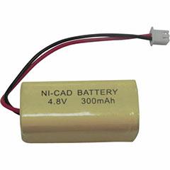 BATTERY NI-CAD 4.8V 300MAH