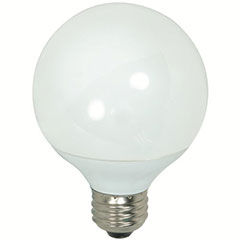 9W CFL G25 MED 27K 12BX