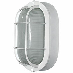 OUTDOOR OVAL WALL FIXT WHITE