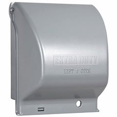 2 GANG IN-USE COVER GRAY