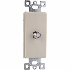 PLATE CABLE JACK 1G 1P IVORY