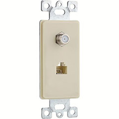 PLATE PHONE/CABLE 1G 2P IVY
