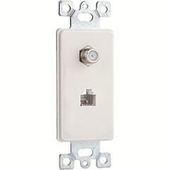 PLATE PHONE/CABLE 1G 2P WHT