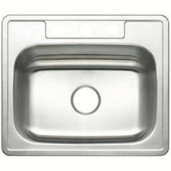 3-HOLE SNG SS SINK 25X22X7