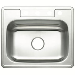 4-HOLE SNG SS SINK 25X22X7