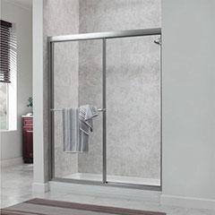 SHWR DOOR FRAMED/SIL/CLR