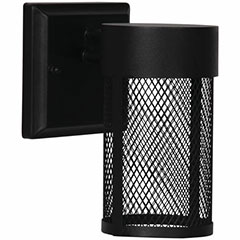 WALL FIXT LED EXT RND 9W BLK