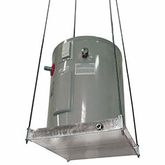 """SUSPENDED WATER HEATER PLATFORM WITH PAN 21-1/2"""" X 21-1/2"""" DIA"""