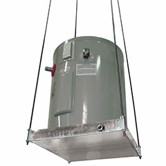 """SUSPENDED WATER HEATER PLATFORM WITH PAN 26-1/2"""" X 26-1/2"""" DIA"""