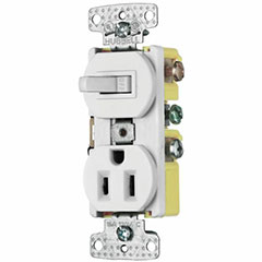 COMBO SWITCH/RECEPTACLE 15A