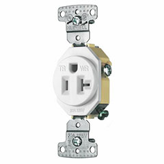 RECEPTACLE 20A SELF GROUND TAMPER PROOF WEATHER PROOF WHITE
