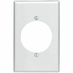 WALL PLATE FLUSH 1-GANG WHIT
