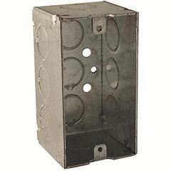 "HUBBELL HANDY BOX SINGLE GANG 6 1/2"" KNOCKOUTS 2-1/8"" DEEP"