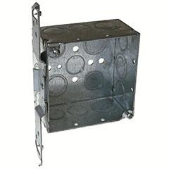 "HUBBELL SQUARE BOX 4"", TS BRACKET 2-1/8"" DEEP"