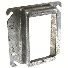 """HUBBELL SQUARE MUD RING 4"""" 1"""