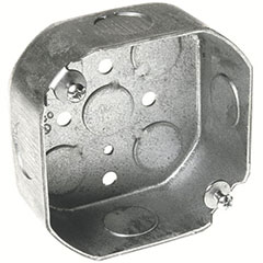 """HUBBELL OCTAGON BOX 4"""" 4 1/2"""" KNOCKOUTS 1-1/2"""" DEEP"""