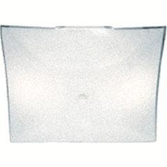 """4BX GLASS SQUARE 12"""" WHITE"""
