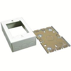 RECEPT BOX SHLW 1G STEEL IVY