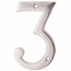 """SOLID BRASS 4"""" NUMBER 3"""