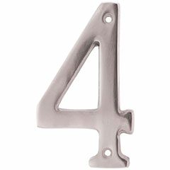 """SOLID BRASS 4"""" NUMBER 4"""