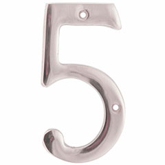 """SOLID BRASS 4"""" NUMBER 5"""
