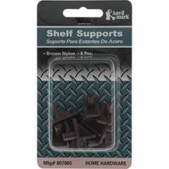 SHELF SUPPORT-PLASTIC 8/PK