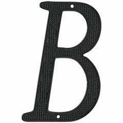 """4"""" BLK METAL HOUSE LTTER 'B'"""