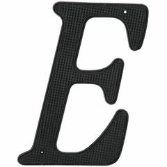"""4"""" BLK METAL HOUSE LTTER 'E'"""