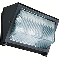WALLPACK W/LAMP MH 150W BRZ