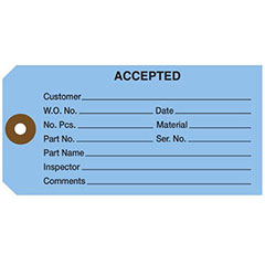 13 Point Plain Inspection and Repair Tags - 1 Part
