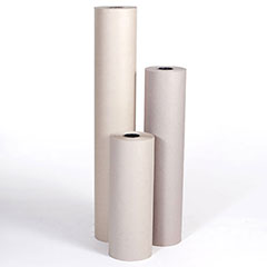 "24"" 50# Grey Bogus Kraft Paper Roll"