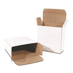 White Reverse Tuck Folding Cartons