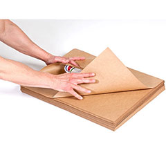 "24 x 36"" 60# Indented Kraft Paper Sheets (25#/Bundle)"