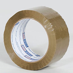 "2"" x 110 yds. 1.85 Mil Medium Grade Tan Hot Melt Carton Sealing Tape (36/Case)"