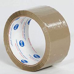 "2"" x 55 yds. 1.75 Mil Light Duty Tan Acrylic Carton Sealing Tape  (36 rolls/Case)"