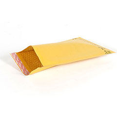 "#4 - 9 1/2 x 14 1/2"" Kraft Self-Seal Bubble Mailer (100/Case)"