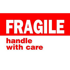 """#DL1767  3 x 5""""  Fragile Handle with Care Label"""