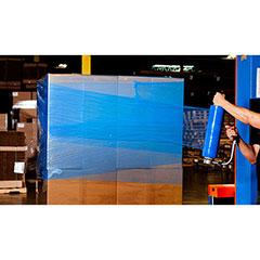 """18"""" x 1500' 80 GA. Blue Colored Hand Stretch Film (4/Case)"""