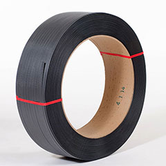 """1/2"""" x 7,200' .031 600# 16 x 6 Black Hand Grade Poly Strapping #H1260EMB072T7"""