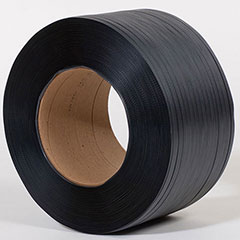 """1/2"""" x 7,200' .031 600# 8 x 8 Black Hand Grade Poly Strapping"""