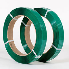 """5/8"""" x 2,200' .025 900# 16 x 3 Smooth Green Polyester Strapping (2 coils/cs)"""