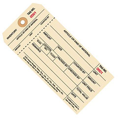 1-Part Carbonless Inventory Tags, Sub Style