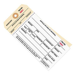 2-Part Carbonless Inventory Tags, Sub Style