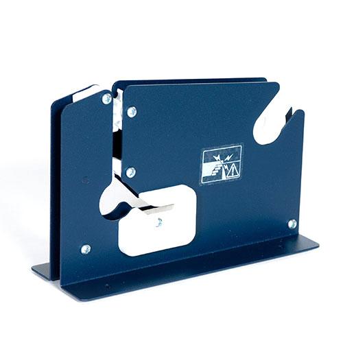 "3/8"" Heavy Duty Blue Produce Bag Taper w/Trimmer"