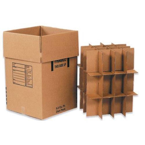 Dish Pack Box 18 x 18 x 28  350# / 51 ECT DW Printed Room Locator Check-Off Box