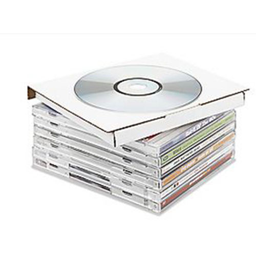 """7 1/2 x 5 3/8 x 1 3/16""""  DVD Case Corrugated Mailer - Holds 2 DVDs"""