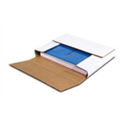 "10 1/4 x 10 1/4 x 1"" White Multi-Depth Corrugated Bookfold"